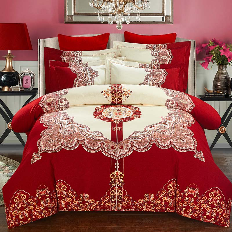 2017 hot sale tang dynasty bedding set chinese wind bed. Black Bedroom Furniture Sets. Home Design Ideas