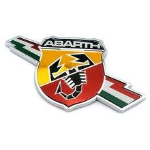 Autocollant d'emblème de garde-boue en métal chromé 3D, 2 pièces/lot, 11.5x5.8mm, Badge pour FIAT 124 125 125 500 OT2000 coupé