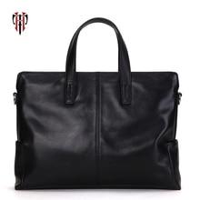 TIANHOO men's briefcase 14 inch laptop briefcase genuine leather man bags soft cow leather for work portfolio men's briefcase цена в Москве и Питере