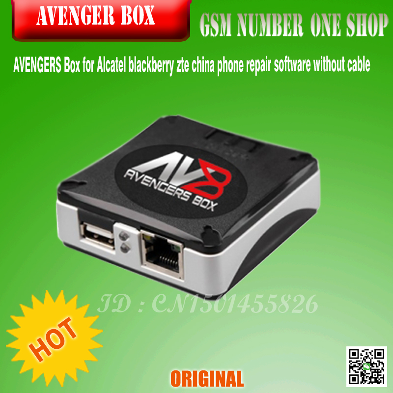 100% Original Latest AVENGERS Box / AVB BOX For Alcatel Blackberry Zte China Phone Repair Software Without Cable Free Shipping