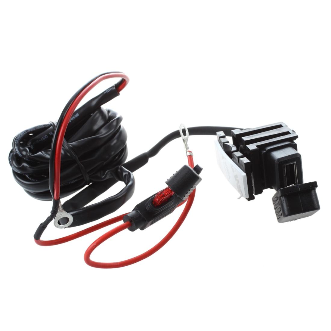 Motorcycle Bike USB Power Socket <font><b>Charger</b></font> for <font><b>Cell</b></font> <font><b>Phone</b></font> 12V/24V
