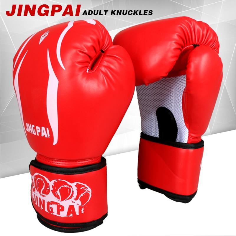 9397d06eb الجملة 10 أوقية الأحمر بو الجلود الكبار التوائم pretorian الملاكمة  التايلاندية قفازات الملاكمة اللكم tkd mma القتال قفازات الملاكمة 3 اللون