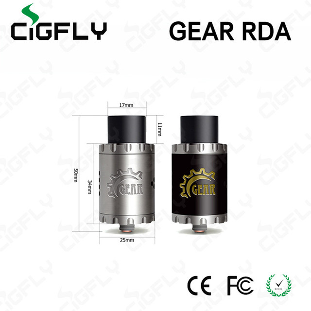 Vaporizer Authentic Gear RDA Cigreen Rebuildable Dripping Atomizer 25mm PEEK Insulation Copper Contact PK Troll V2