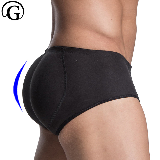 755f0b32cca PRAYGER Men Sillicon Pads Butt Lifter Control Panties Removable Inserts  Shaper Padded Enhancement Cotton Underwear