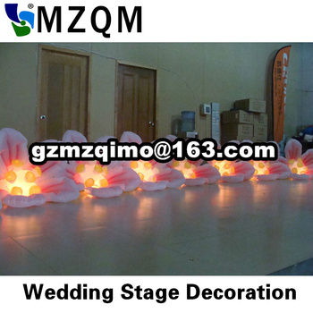 free shipping inflatable stage flower, led inflatable flower chain, wedding stage decoration inflatable flower chains for sale