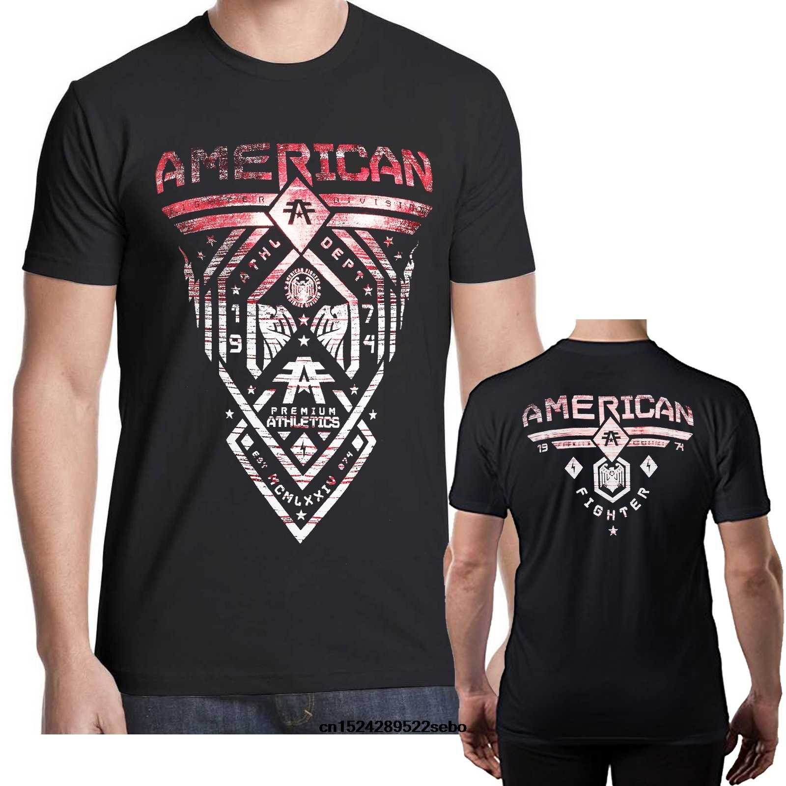 f4abe837307cb2 American Fighter T Shirt 7 Mens Round Neck Short Sleeves T-shirt Cotton  Bottoming T