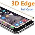3d de la aleación de aluminio de cristal templado case coque para iphone 6 6 s/7 plus full screen protector film de fundas para 5 5S sí 5c case