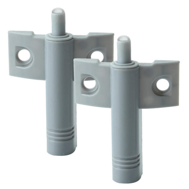 2pcs Plastic Gray Door Buffers Soft Quiet Slow Down Closing Protect
