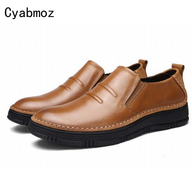 New Arrival Round Toe Thick Bottom Men Casual Shoes Street Vintage Fashion Solid Color Slip-on Loafers Platform Walking Shoe Man luxury pointed toe rivet casual shoes england designer party and banquet men loafers fashion young man walking street shoes
