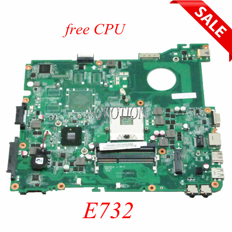 NOKOTION MBNCA06001 MB.NCA06.001 DA0ZRCMB6C0 Main board For Acer Emachines E732 Laptop Motherboard HM55 UMA DDR3 nokotion mb nc806 001 da0zrcmb6c0 rev c mbnc806001 for acer aspire e732 e732z motherboard hm55 ddr3 ati hd 5470