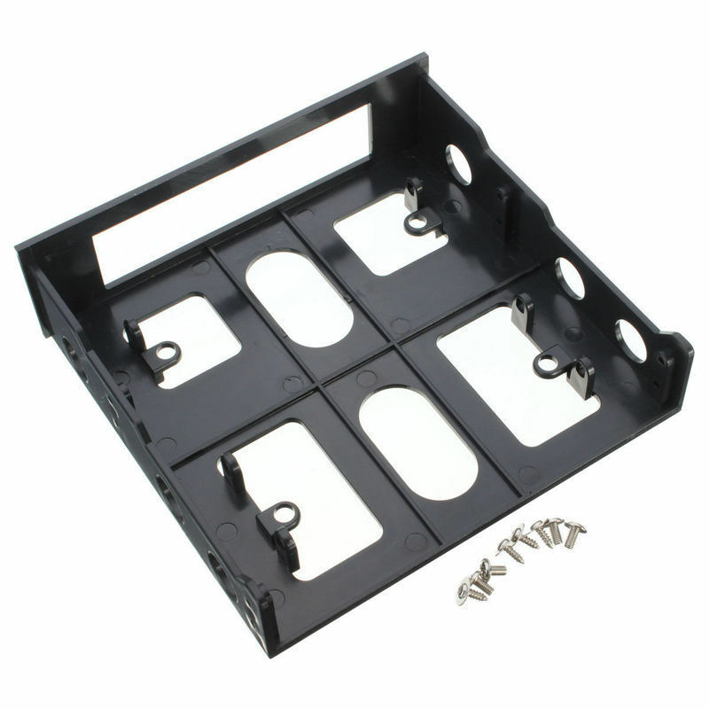 3.5 to 5.25 Drive Bay Computer PC Case Adapter Mounting Bracket USB Hub Floppy image