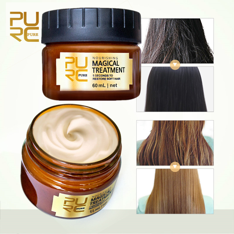 PURC 60ml Magical keratin Hair Treatment Mask 5 Seconds Repairs Damage Hair Root Hair Tonic Keratin Hair & Scalp Treatment shiseido damage care treatment