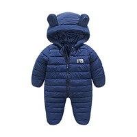 Baby Coat Newborn Infant Overalls Winter Baby Jackets Hooded Bodysuits Toddler Girls Snow Wear Jumpsuit Children