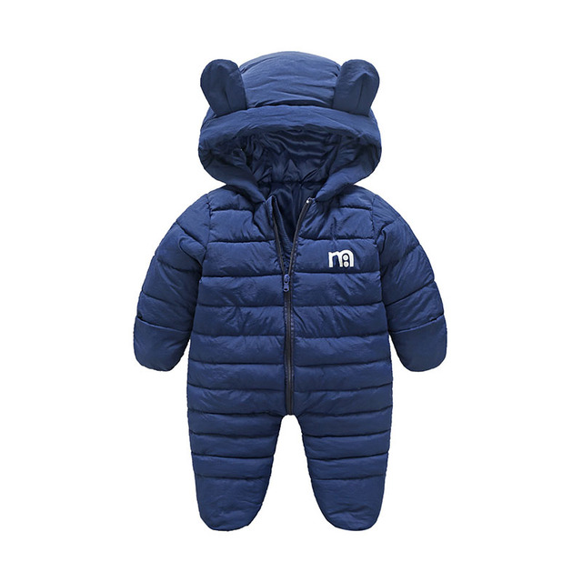 eada96932 Baby Snowsuits Newborn Infant Overalls With Bootie Winter Baby Jackets  Coats Hooded Bodysuits Toddler Girls Snow Wear Pram Suits