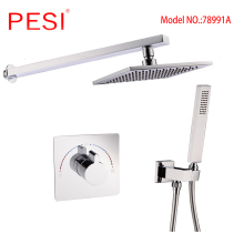 цена на Bathroom Rainfall Shower Faucet Set Single Handle Mixer Tap With 8/10/12 inch Head Shower Wall Mounted Bath Shower Set,Chrome.