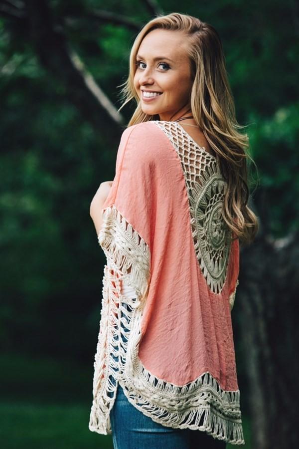 Quality Crochet Bikini Cover-ups Hollow Out Women Handmade Beachwear Bohemia Robe Cover up One-piece Flax Vacation Smock 6