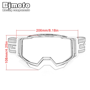 Image 5 - BJMOTO Brand Motocross Goggles Glasses Skiing Sport Eye Ware MX Off Road Helmets Gafas Motorcycle Goggle for ATV DH MTB