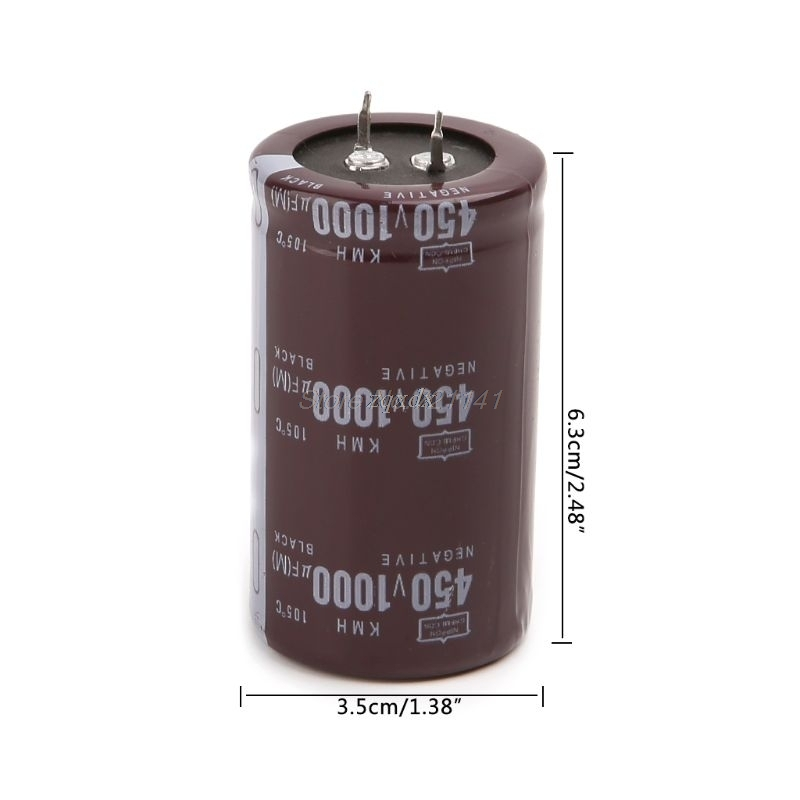 High Frequency 450V 1000uF Aluminum Electrolytic Capacitor Volume 35x60