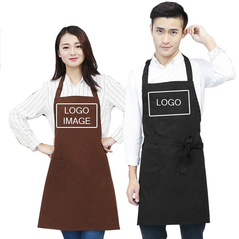 Cotton Kitchen Cooking Aprons Baking Painting Household ...