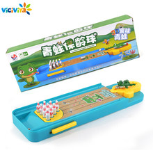 Viciviya Mini Desktop Bowling Game Kids Children Developmental Toy Decor Home Entertainment Relax Toys Xmas Gift(China)