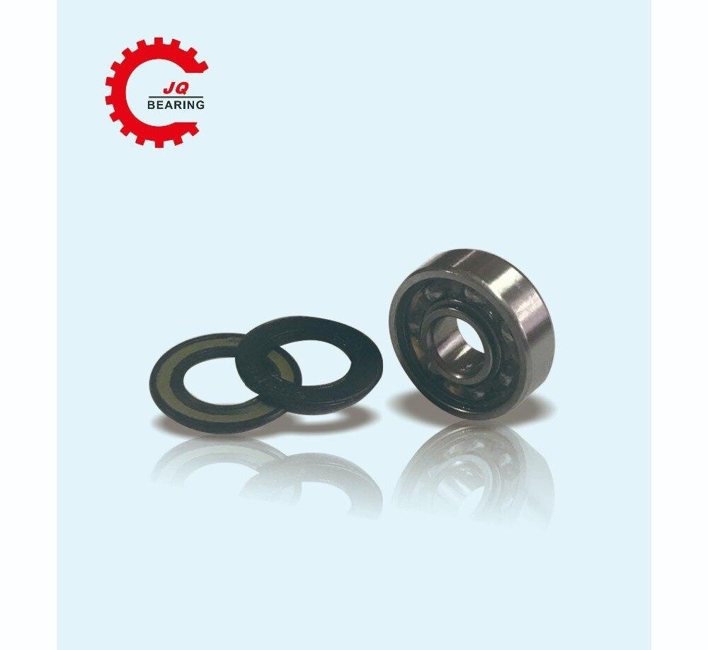 Купить с кэшбэком JQ Bearings 10PCS 608 608rs 608RS 608-2RS Ball Bearing 8*22*7 mm Deep Groove Ball Miniature bearing skateboard bearings