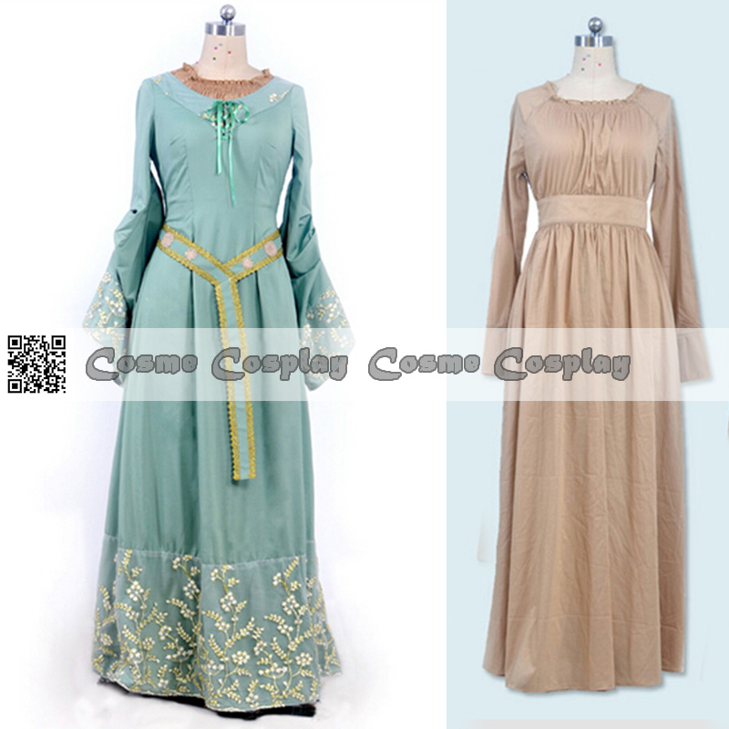 Us 112 72 Customized Maleficent Princess Aurora Cosplay Costume Long Green Dress And Grey Dress Set Cosplay Costume In Movie Tv Costumes From
