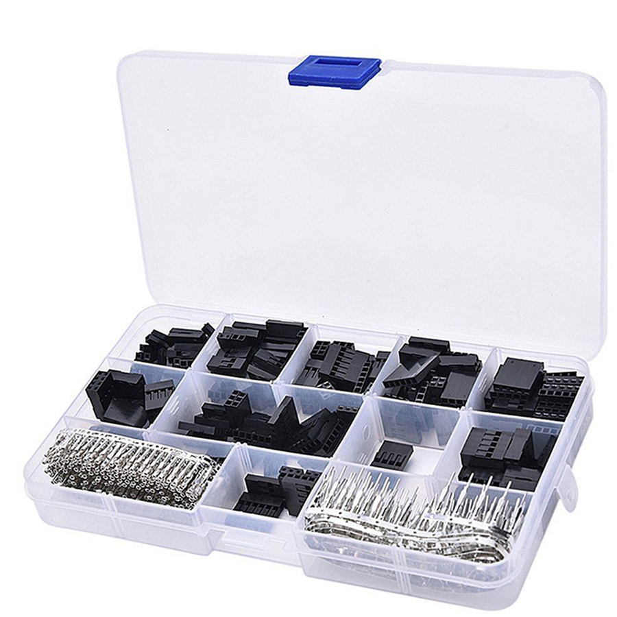 620pcs 2 3 4 pin Dupont connector wire cable connectors 2.54 mm Jumper Header Housing Kit Male Crimp Pins Female Pin Terminal