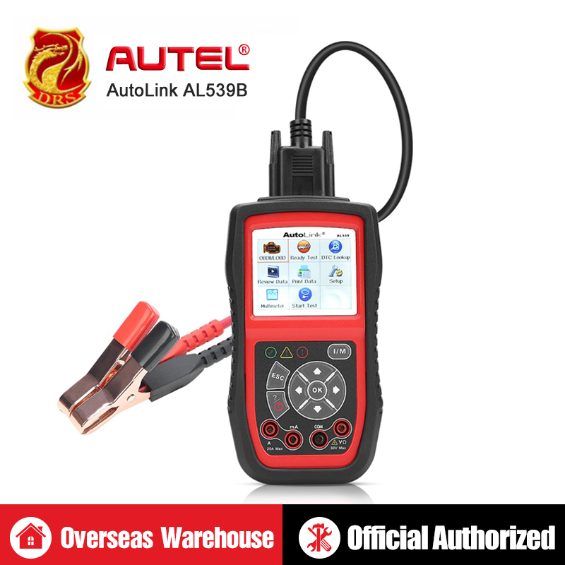 Autel AutoLink AL539B Auto Code Reader OBDII Diagnostic Tool OBD2 Scanner Electrical Tool Test Battery Test AVO Meter PK AL519