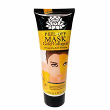 1 piece women's 24K natural crystal collagen gold mask anti-aging facial sleep set to eliminate dark circles fine lines wrinkles(China)