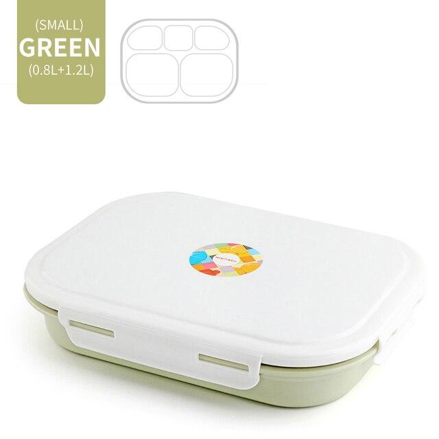 Green 5 Compartment Cheap bento boxes japanese bento 5c6479e2ed37e