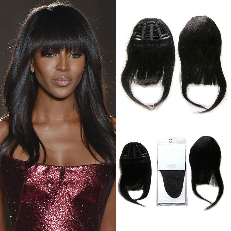 Human Hair Bangs Remy Clip In Extension On Fringe From Health Beauty Aliexpress