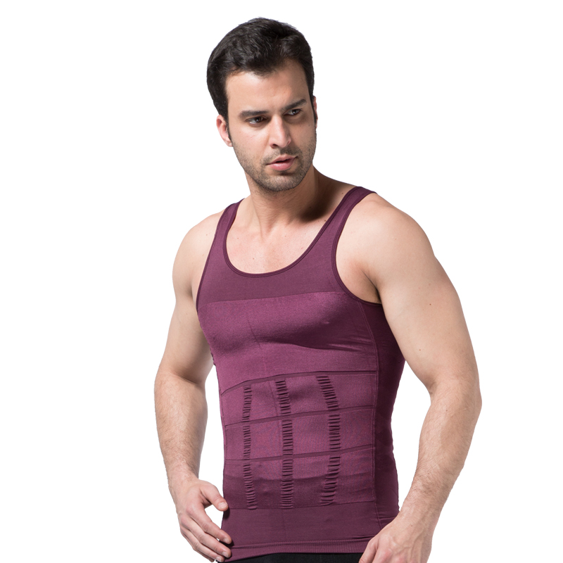 Mens Shapers Slimming Body Vest Sweat Suits Trainer Hot Shapewear Undershirt Summer Tops Corset Bodybuliding Belly Waist 40%W