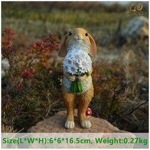 Image 2 - Повседневная коллекция милых Пасхальных Кроликов, декоративный Волшебный сад, Фигурка кролика, домашний декор, подарок на день Святого Валентина