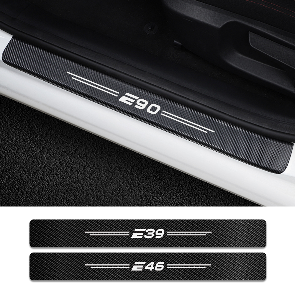 4PCS Car Door Threshold Protector Stickers For BMW E46 E39 E90 E91 E60 E36 E87 E92 E30 E34  E61 E62 E93 E28 E53 E70 Accessories