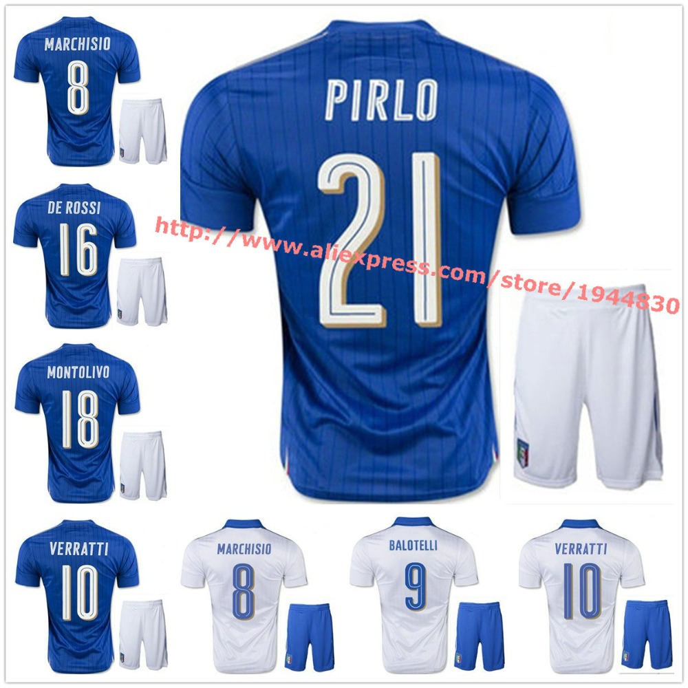 low priced d3de1 6603a 2016 2017 euro cup Italy soccer Jersey kits 2016 El Shaarawy ...