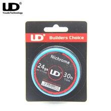 Youde UD Nichrome Wire 24ga 26ga 28ga 30ft/roll for e cigarette  UD accessories