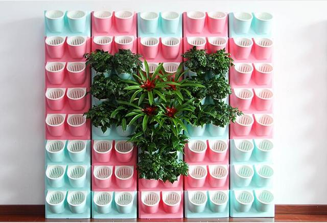 Free shippingwhite color small hydroponic potted plastic flower free shippingwhite color small hydroponic potted plastic flower pots wholesale plant wall hanging lazy workwithnaturefo