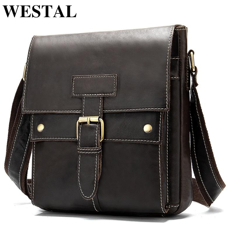 Γυναικεία τσάντα ώμου τσάντα ώμου WESTAL γνήσια δερμάτινη τσάντα ανδρών ασημένιο αγγελιοφόρο τσάντα ανδρών τσάντα φερμουάρ ανδρών φερμουάρ τσάντες 9040