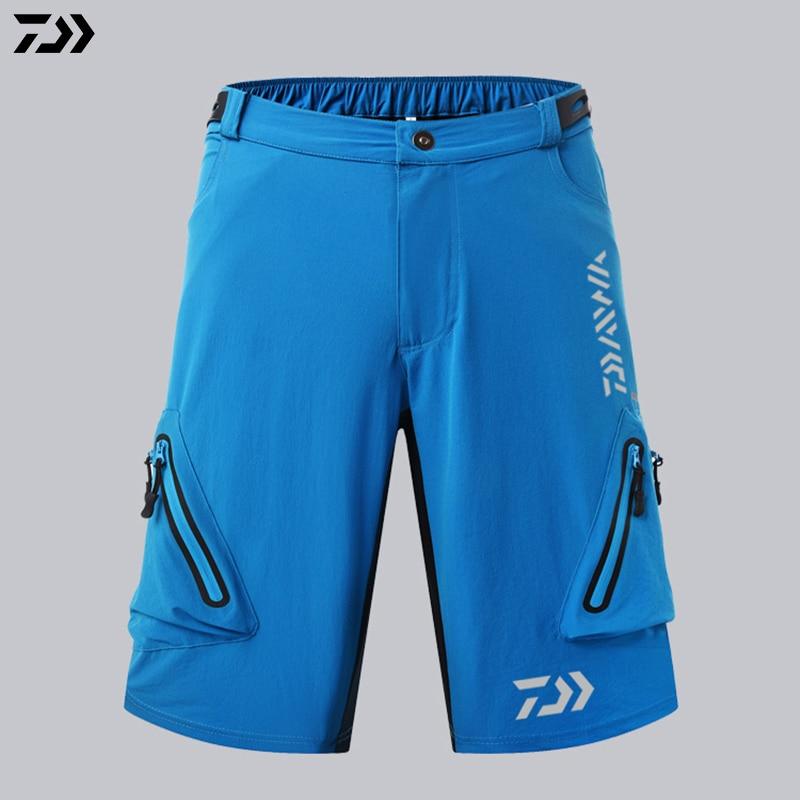 respirável esportes ao ar livre shorts bolsos pesca calças curtas