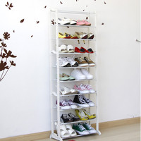 1 10 Tier Portable Vertical Combination Shoe Rack Floor Stand Shoe Organizer Foldable Storage Rack Space Saver Light Weight