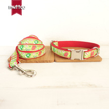 Pet Accessories Christmas/winter/snow Gift Theme Puppy Collar Leash Set For Small Medium Large Dogs Christmas Walking Training