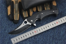 2016 Newest tactical folding knife Bearhead Dr Death Mayo flipper pocket knife Titanium + carbon fiber handle edc gift Tools