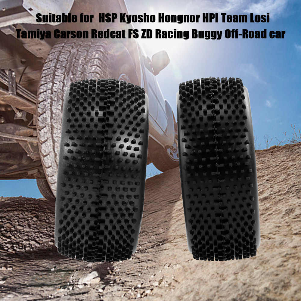 4pcs 1//10 RC Off Road Buggy Front Rear Tires Tyres for Kyosho Himoto HPI Losi FS