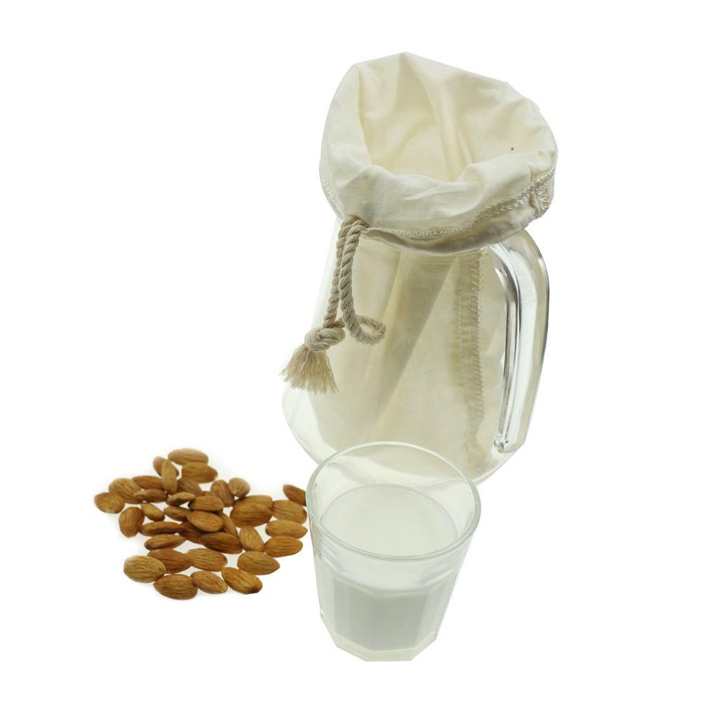 8Pcs 30x30cm Milk Yogurt Juice Cotton Mesh Strainer Cheesecloth Filter Bag