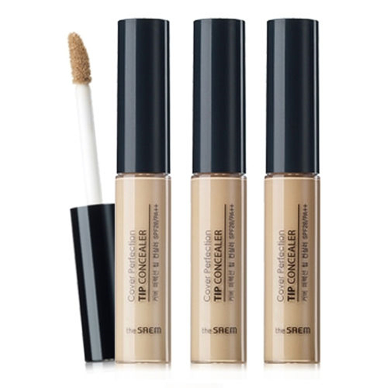 цены THE SAEM Cover Perfection Tip Concealer (SPF28/PA++) 3 Color 6.5g Face Makeup Liquid Concealer Brighten Foundation 1pcs