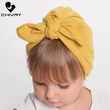 Chivry Toddler Infant Baby Kids Turban Knot Rabbit Ears Hat Soft Head Wrap Newborn Baby Boys Girls Headband Hair Accessories стоимость