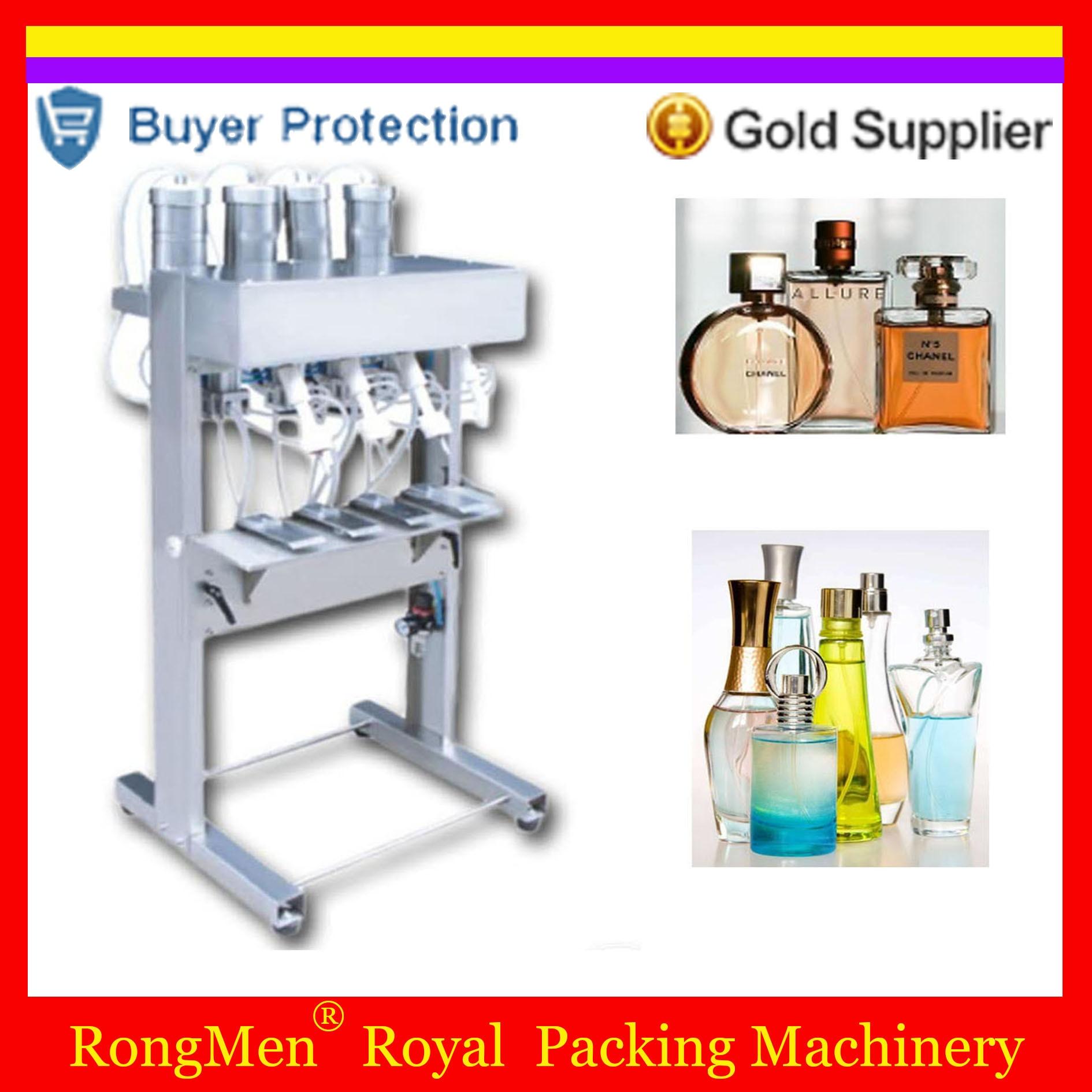Perfume Filling Machine 4 Heads Perfume Filler Pneumatic Vacuum Level Control Glass Bottle Device Four Head Free Shipping Бутылка
