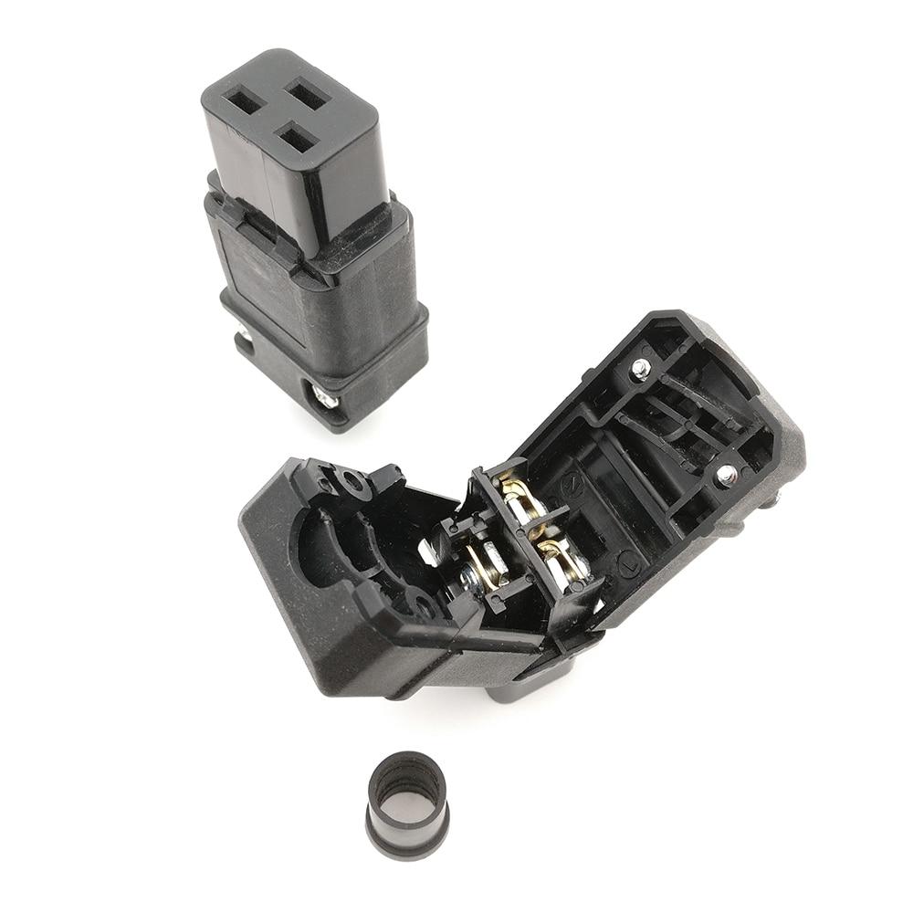 Rewirable PDU UPS 16A 250VAC IEC 320 C 19 plug, IEC C19 DIY plug, IEC 320 C19 connector IEC C19 female Plug 16A Connector iec 320 c19 to saa australia 3 pin female power adapter for pdu ups ac plug converter wpt605
