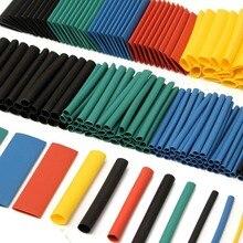 280 шт. 5 цветов 8 Размеры Полиолефиновый 2:1 безгалогеновый термоусадочные трубки ассортимент sleeving трубы Обёрточная бумага для Обёрточная бумага комплект Наборы