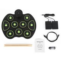 Portable Electronic Drum Digital USB Roll Up Drum Set Silicone Electric Drum Pad Kit With DrumSticks Foot Pedal